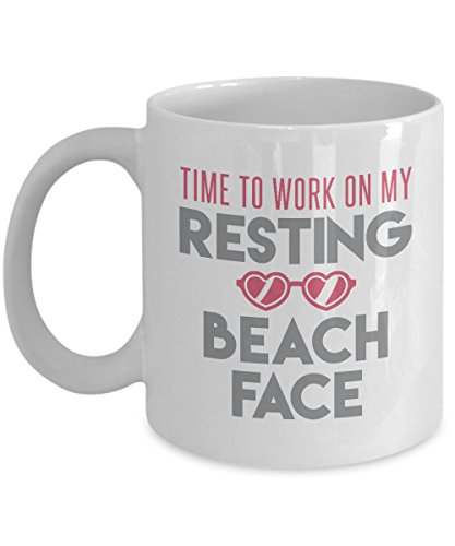 Time to Work on My Resting Beach Face Summer Coffee & Tea Gift Mug for Women