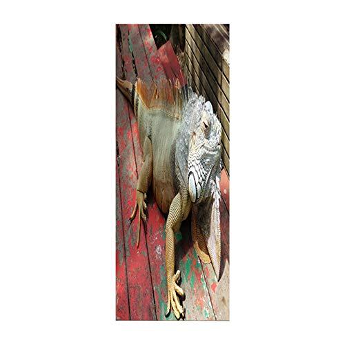 3D pegatinas puerta lagarto mural pegatinas pared