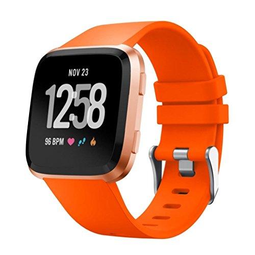 MyFitBands EAN Armband für Fitbit Versa Ersatz Qualität Stylisches Band verstellbar sicheren Verschluss