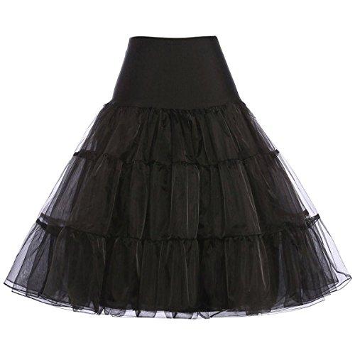 ANVEY Organza 50s Petticoat Reifrock Unterrock Petticoat Underskirt Crinoline für Rockabilly Kleid -
