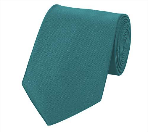 Fabio Farini Seidenweiche Krawatte 8 cm in verschiedenen Farben, für Hochzeit Business Weihnachten (One Size, Petrol)