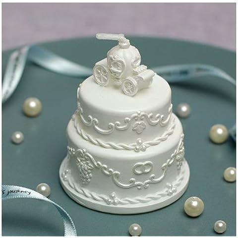 Velas en forma de pastel de boda romántica boda boda productos creativos fiesta de cumpleaños velas de no fumadores para devolver don