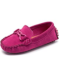 Scarpe per Bambini e Ragazze Mocassini Scivolare su Pelle Scamosciata  Ragazzi Pantofola Vestito Mocassini Scarpe per d5202482dcb