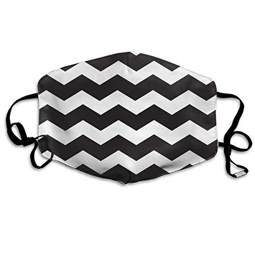 Masken, Masken für Erwachsene, Unisex Unique Mouth Mask, Black White Wave Stripe Polyester Anti-dust Masks - Fashion Washed Reusable Face Mask for Outdoor ()
