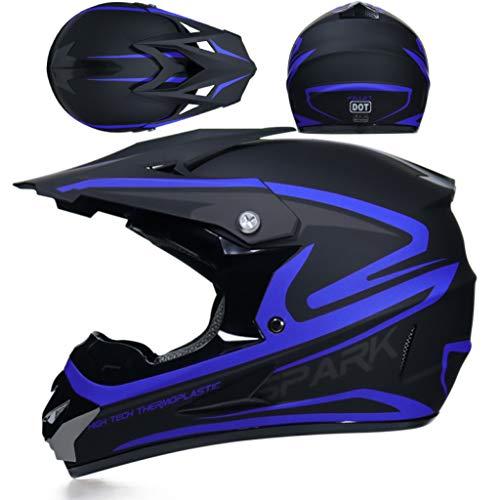 OLEEKA Motocross Helm ATV Motocicleta Casque Moto Casco Offroad Dirt Bike Helm Geeignet für Kinder, Mädchen (Schmutz Bike-helme Für Kinder)