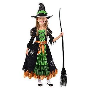 Disfraz de bruja verde de