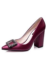 Zapatos de tacón Zapatos Zapatos para Mujer Zapatos de Boda Boca Baja  Hebilla Cuadrada Zapatos de Mujer de Diamantes. e83d6382092d