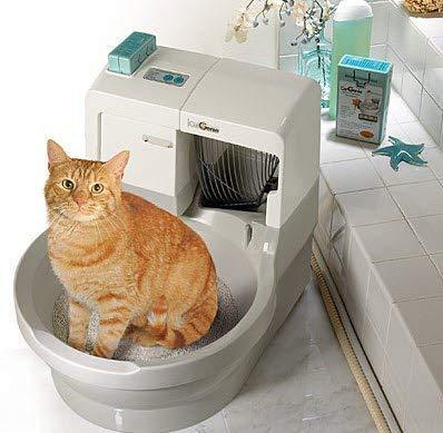 *CatGenie 120+ Automatik für automatisches Waschen Katzentoilettenbox Blanque*