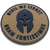 Nihil Me terret quam fortissimus Spartan Dark Earth PVC Airsoft Patch
