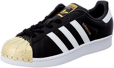 adidas Originals Superstar Metal Toe, Baskets Basses Femme, Noir (Core