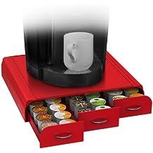 Mind Reader Anchor - Cajón para cápsulas de café, compatible con Keurig (Vue, K-Cups), Nespresso, CBTL/Verismo o Tassimo Para K-Cup, CBTL, Verismo, Dolce Gusto ninguna rosso
