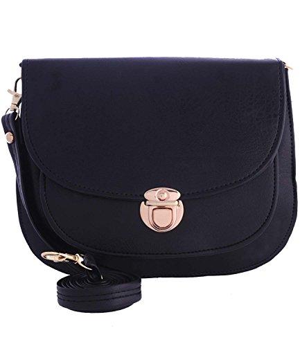 Fristo women slingbag(FRSB-038) Black