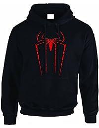 Mad Tees - Sudadera con capucha de The Amazing Spiderman (Marvel Comics), unisex
