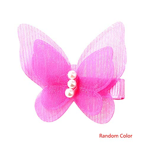 Einzigartige Familien Kostüm Mit Baby - Pegcdu Mädchen-Schmetterlings-Riegel-Haarnadel Bogen-Knoten-Gaze   Haar-Klipp-Baby