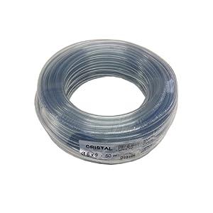Tricoflex 00311132 – Manguera flexible (PVC, 6 mm diámetro interior, 50 m), transparente