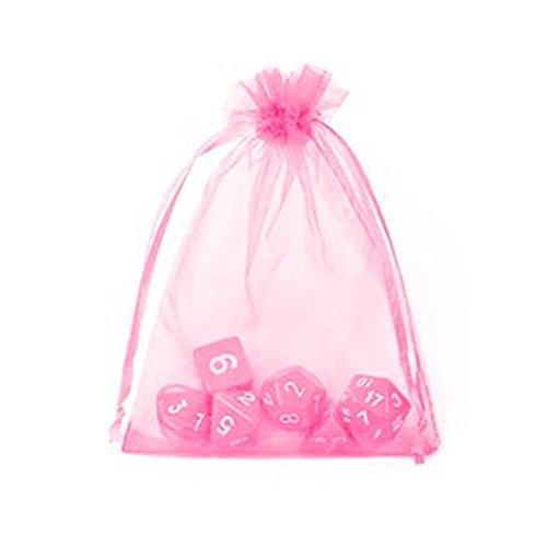 Sungpunet 50pcs rosa in organza, 9x 11cm (9x 11cm) con coulisse sacchetti gioielli candy gift filato borsa per feste e matrimoni