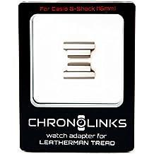 chronolinks Reloj adaptador Plata para Leatherman Tread Y Casio G de shock (16mm)