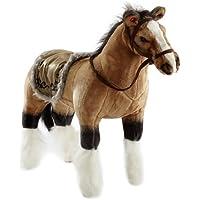 Happy People 58419 - Pferd mit Sound, stehend, Tragkraft ca. 100 kg, braun