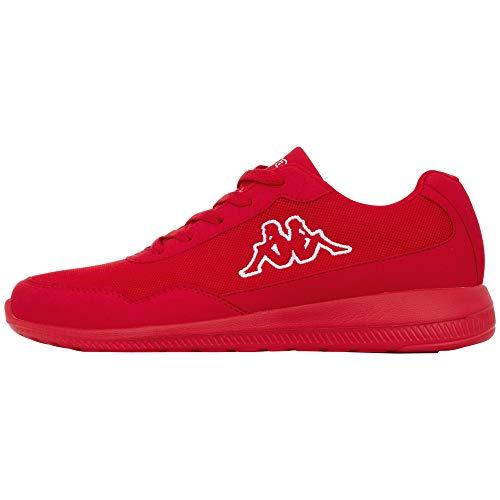 Kappa FOLLOW OC | Freizeit-Sneakers für Frauen und Männer | super-leicht, modisch und zeitlos | angenehmes Tragegefühl | atmungsaktiv | Rot (Red/White 2010), Größe 39 EU