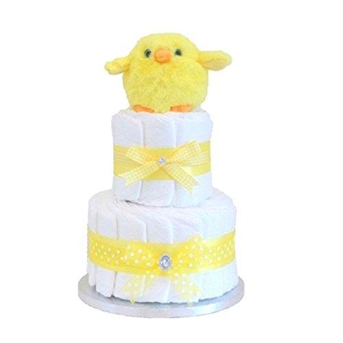 Signature Deux niveaux gâteau de couches Unisexe Jaune/Panier/Cadeau//New Arrival cadeau cadeau pour bébé Maternité pour bébé/Cadeau pour nouveau-né/envoi rapide