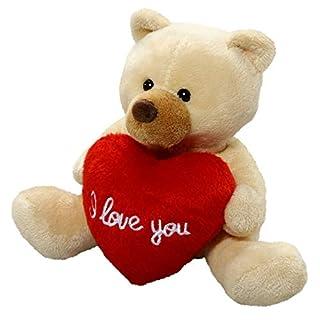 Carl Dick Peluche Ours en peluche avec beige de coeur, 13cm [Jouet] 2563001