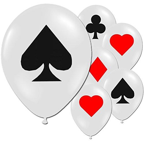 48 Casino Nächte Karte Für Bedruckt Partei-ballons