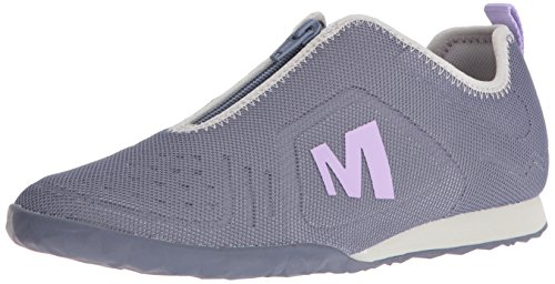 Merrell Womens Civet Zip Fashion Sneaker, Sleet, 3 UK