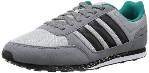 adidas City Racer, Chaussures de Sport Homme, 42 EU Multicolore - Gris / Negro / Blanco (Onicla / Negbas / Ftwbla)