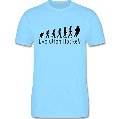 Evolution - Evolution Hockey - Herren Premium T-Shirt Hellblau