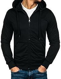 BOLF-Sweat-shirt à capuche – Manches longues – Fermeture éclair-Homme [1A1]