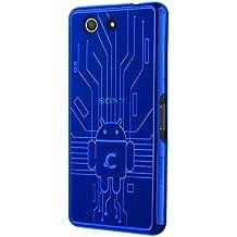 CruzerLite Z3COM-Circuit - Carcasa para Sony Xperia Z3 Compact, azul