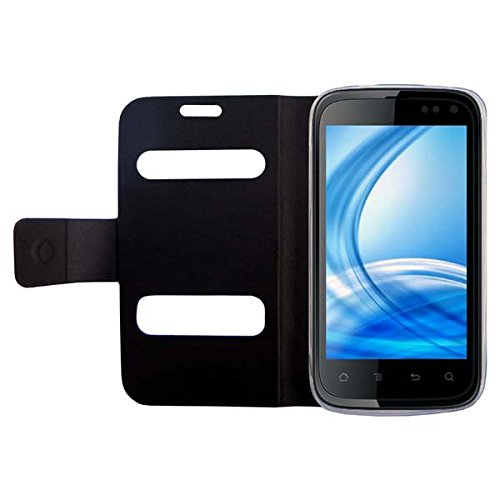 Acm Caller Id Case For Karbonn A15 Mobile Table Talk Flip Cover Stand - Black  available at amazon for Rs.389