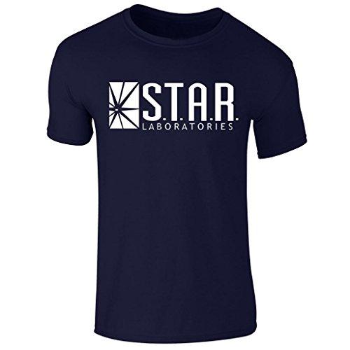 Labs Kostüm Star - Men's Star Labs The Flash TV Show T Shirt S-XXl (Medium) Navy