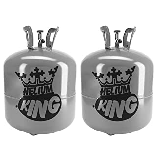 Helium King Large Gas Cylinder - Fills 50 9inch Balloons (2)