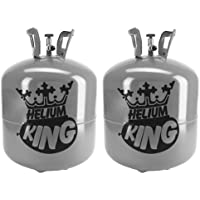 Helium King Large Gas Cylinder - Fills 50 Balloons - Pack of 2