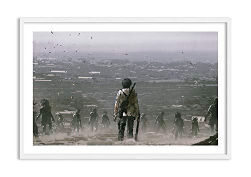 Bild im weißen Holzrahmen - Bild im Rahmen - Bild auf Leinwand - Leinwandbilder - Breite: 120cm, Höhe: 80cm - Bildnummer 4101 - zum Aufhängen bereit - Bilder - Kunstdruck - F1WAA120x80-4101