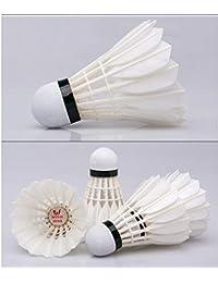 YAOHM Volantes de Plumas 12pcs Pluma de Ganso antidesgaste/Estabilidad/Durable de bádminton