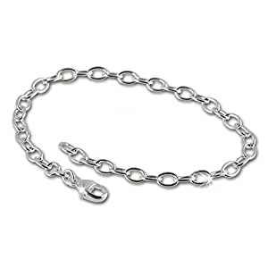 SilberDream Armband 925 Sterling Silber Charm Bettelarmband 19cm für Charms Anhänger FC0402