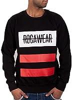 Rocawear Mens Boys Black Line Jumper Sweatshirt Hip Hop Money Is Time