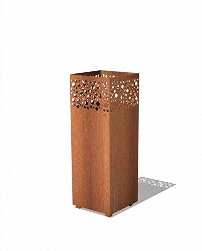 Feuersäule Arkin aus rostfreien Cortenstahl (rostoptik) für den Garten & Terrasse / Standsäule 100 cm Gewicht 45 KG / Anti-Rost Gartendekoration / Feuerstelle in Edelrostoptik