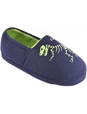 SlumberzzZ Niños Resplandor EN Los Pantalones Oscuros del Dinosaurio - Azul Tamaño 34-36