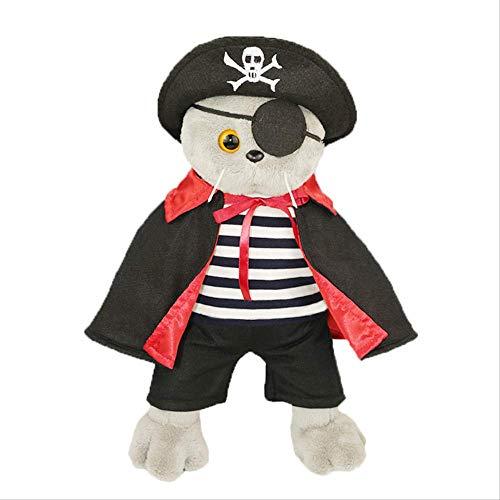 hzbftoy Plüsch Bär Garfield Stehende Kaninchen Halloween Weihnachten Cartoon Puppe Piraten Kostüm Garfield Plus (Pirat Für Erwachsene Kostüm Plus)