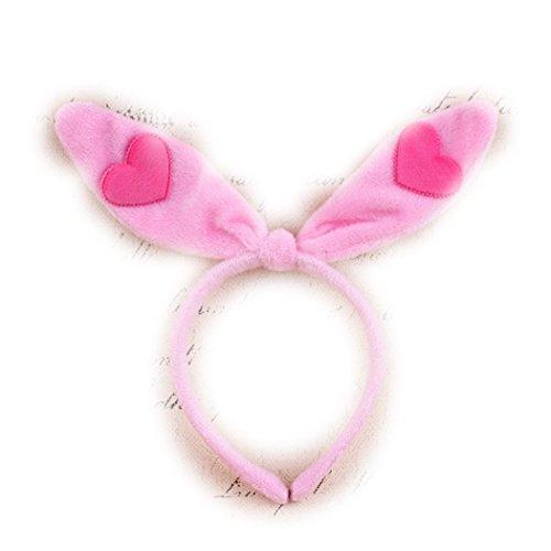 Sweet Home pieghevole Peluche orecchie da coniglio cerchietto per capelli per Cosplay Party - Playboy Pink Bunny