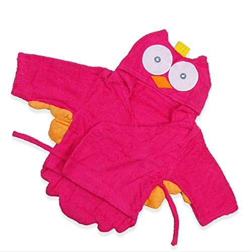 Eule Design Neugeborenen mit Kapuze Bademantel Baby Jungen und Mädchen weiches Badetuch für Strandbad Dusche Pool Schwimmen Baby Shower Geschenk 0 bis 12 Monate ()