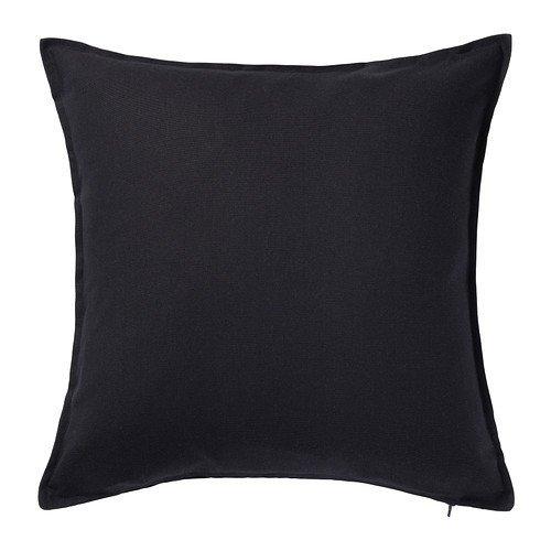 IKEA GURLI Kissenbezug in schwarz; (50x50cm) (Ikea Kissenbezüge)