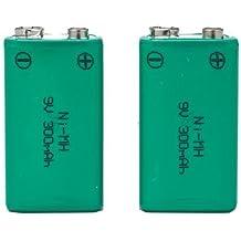 SB set di 2pile ricaricabili Ni-MH 9V PP3batterie tipo–alta capacità 300mAh