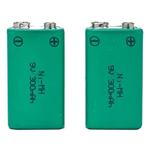 SB set of 2 Rechargeable NiMH 9V PP3 Type Batteries