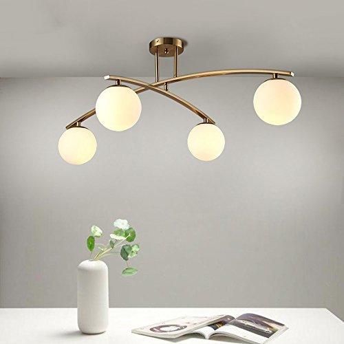GBYZHMH Deckenleuchte $ Glas Deckenlampe, postmodernen Einfache Wohnzimmer Restaurant Schlafzimmer Mode Atmosphäre Deckenleuchte (Ausgabe: 4 Kopf)