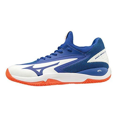 Mizuno Wave Impulse CC, Scarpe da Tennis Uomo, Bianco (White/Reflex Blue/Nasturtium 27), 44.5 EU