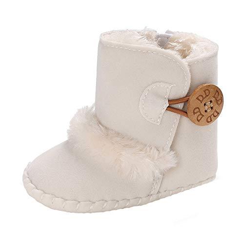 4c233ea2a ... Nacido Niña Niño Suave Botines Invierno Botas de Nieve Primeros Pasos  Botas Lindo Zapatos de Cuna Botón. marzo 12